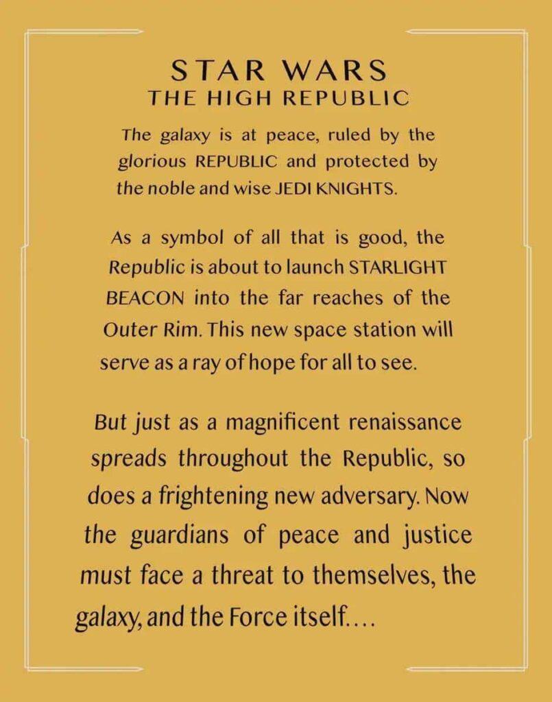 Star Wars The High Republic Opening Crawl