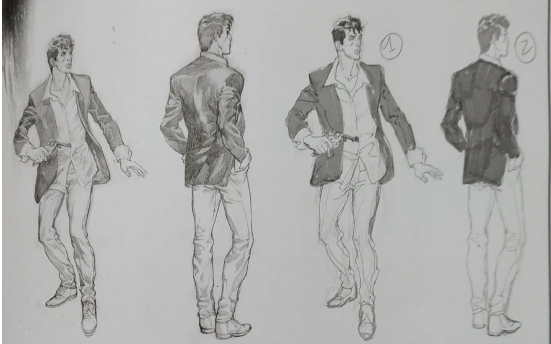 Disegni preparatori Dylan Dog